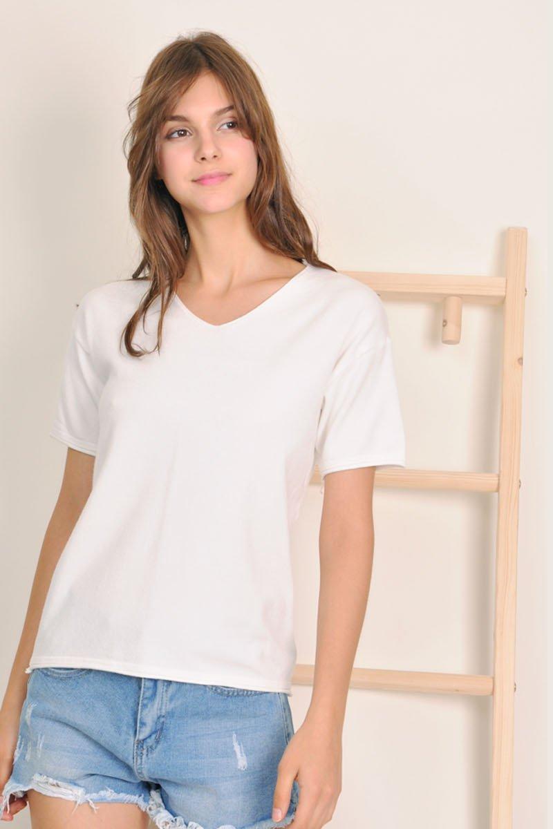 Antonia Soft Knit Top Ivory