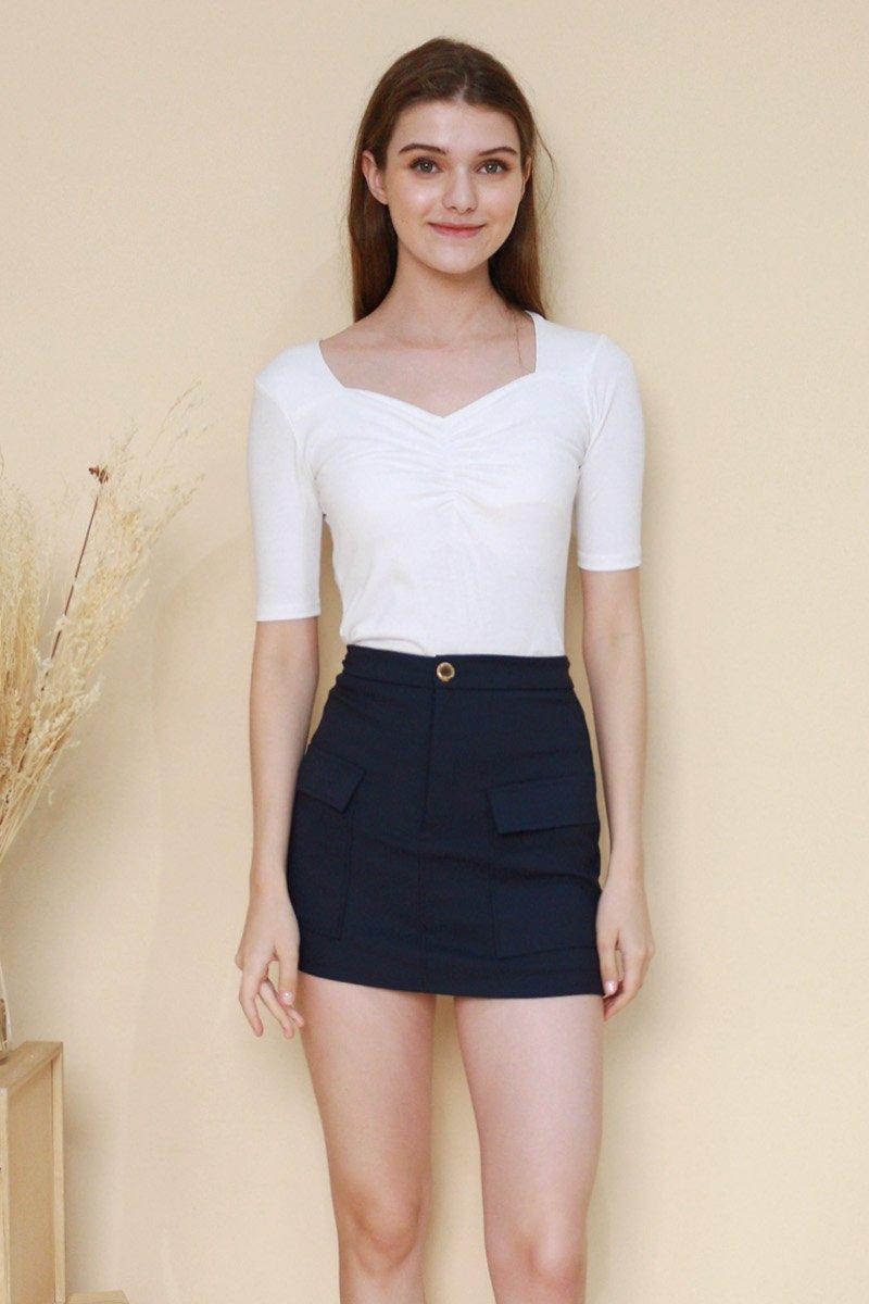 Averil Front Pocket Skirt Midnight