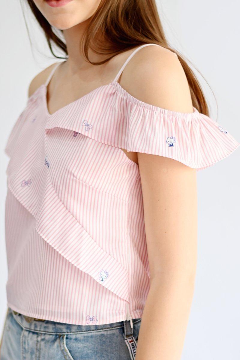 Hello Kitty Ruffle Top Blush
