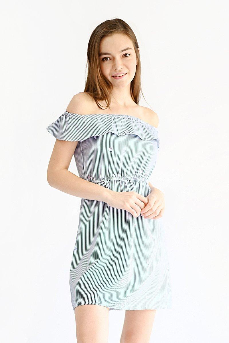 Hello Kitty Off-Shoulder Dress Midnight