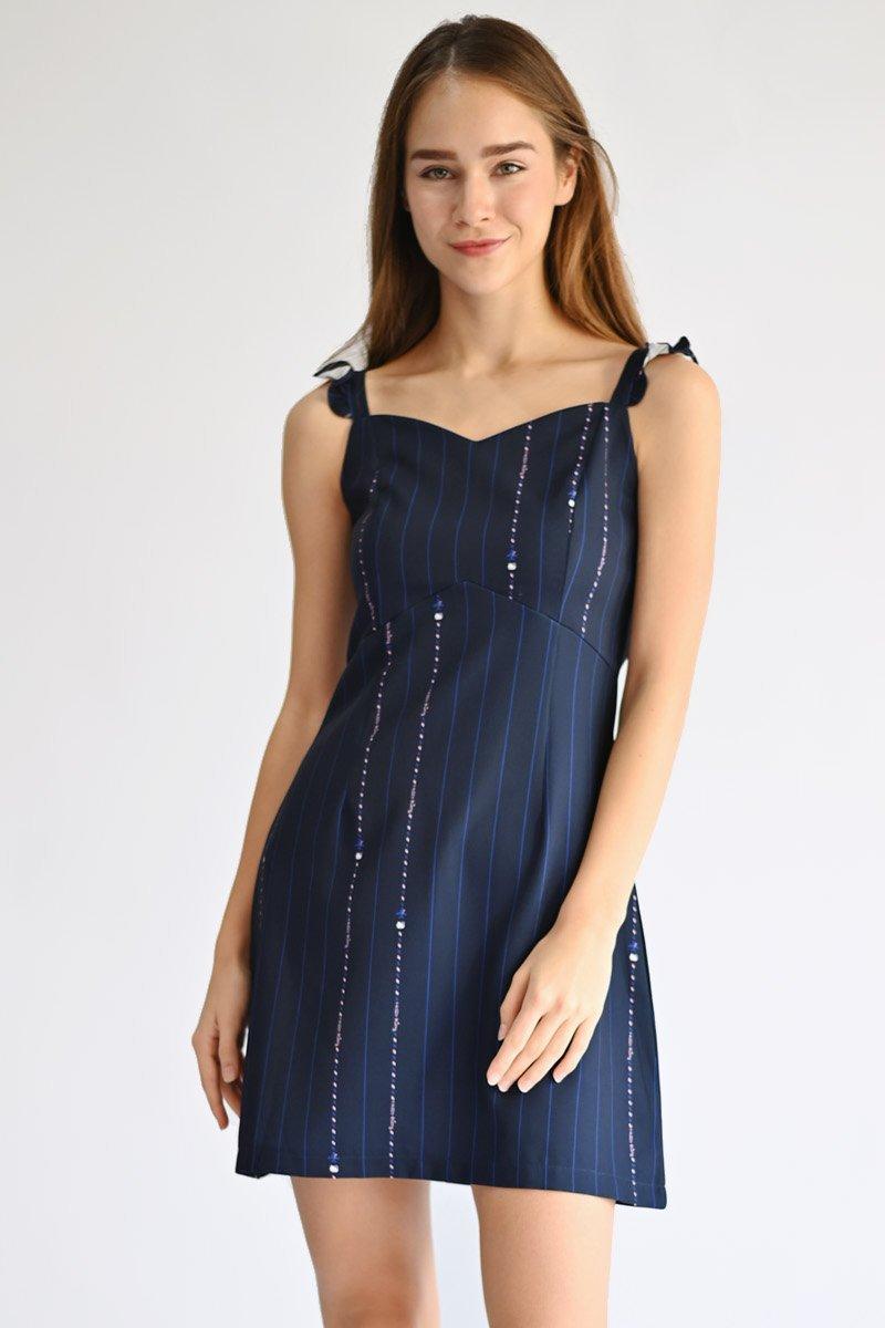Hello Kitty Ruffle Strap Dress Midnight