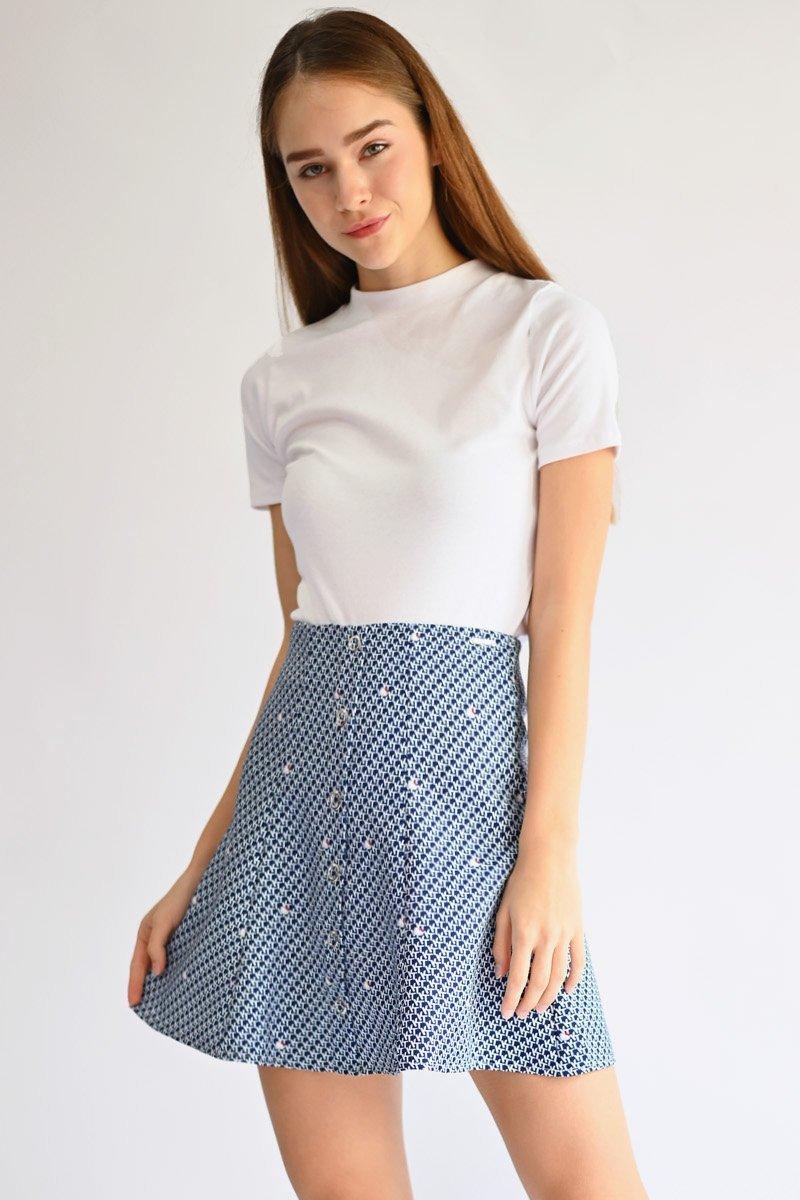 Hello Kitty Eyelet Button Skirt Midnight