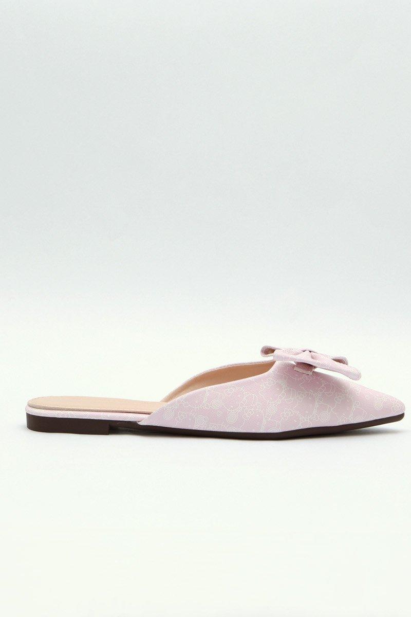 Hello Kitty Bow Slip On Flats Blush