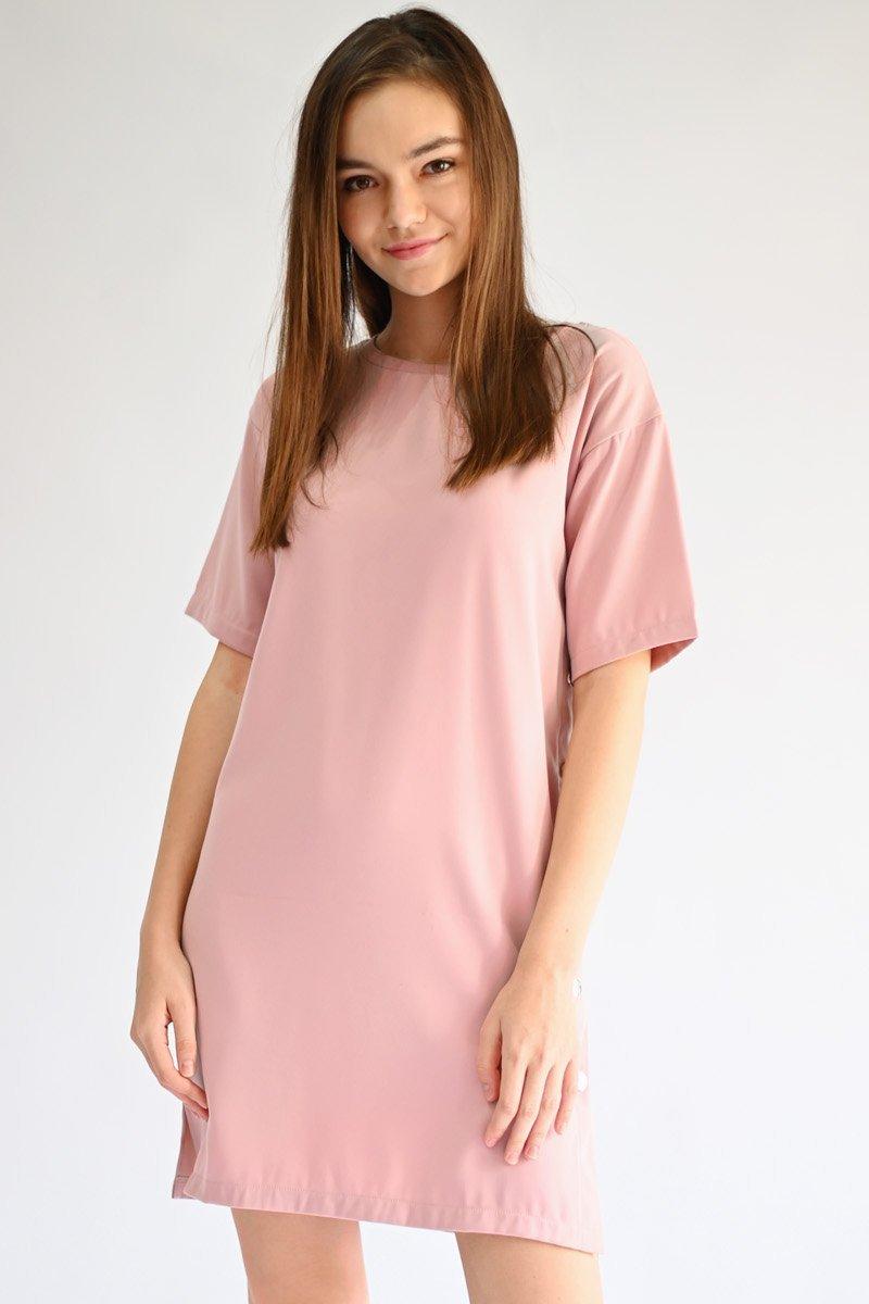 Hello Kitty Button Dress Blush