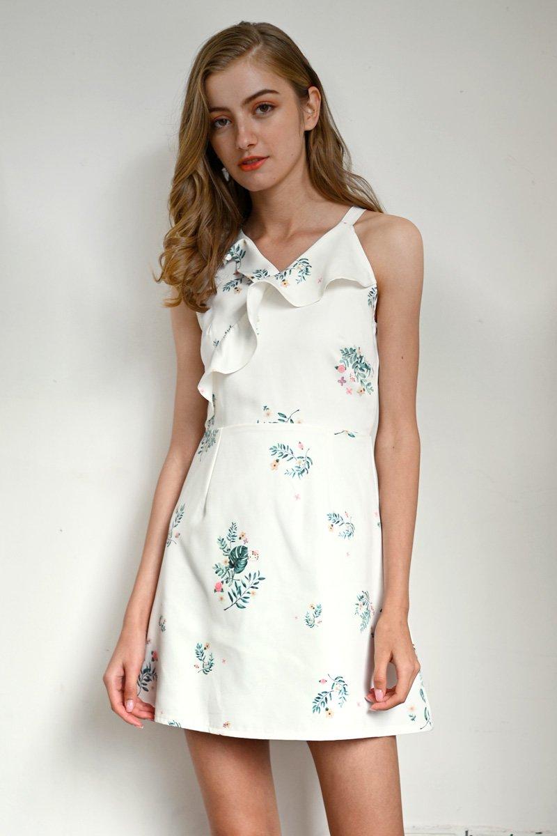 Hello Kitty Ruffle Trim Dress Ivory