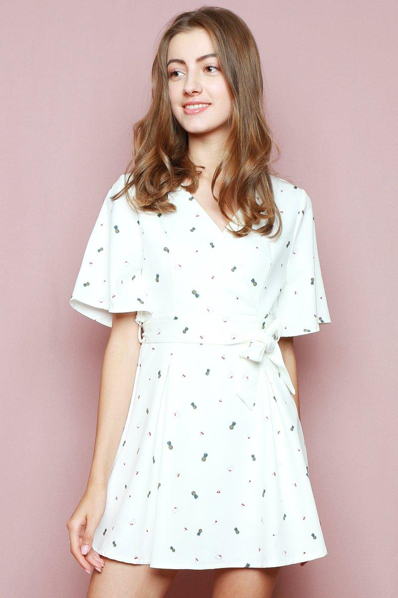 Hello Kitty Overlapped Dress Ivory