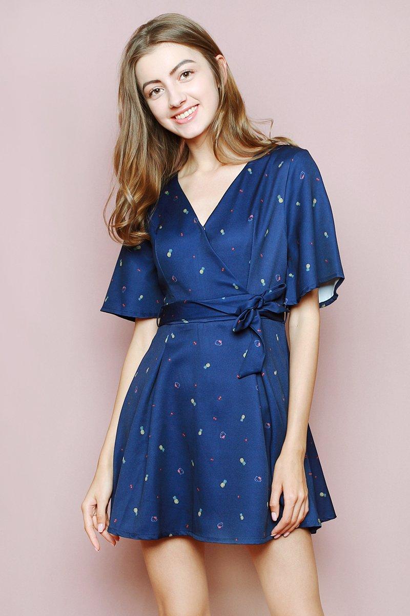 Hello Kitty Overlapped Dress Midnight