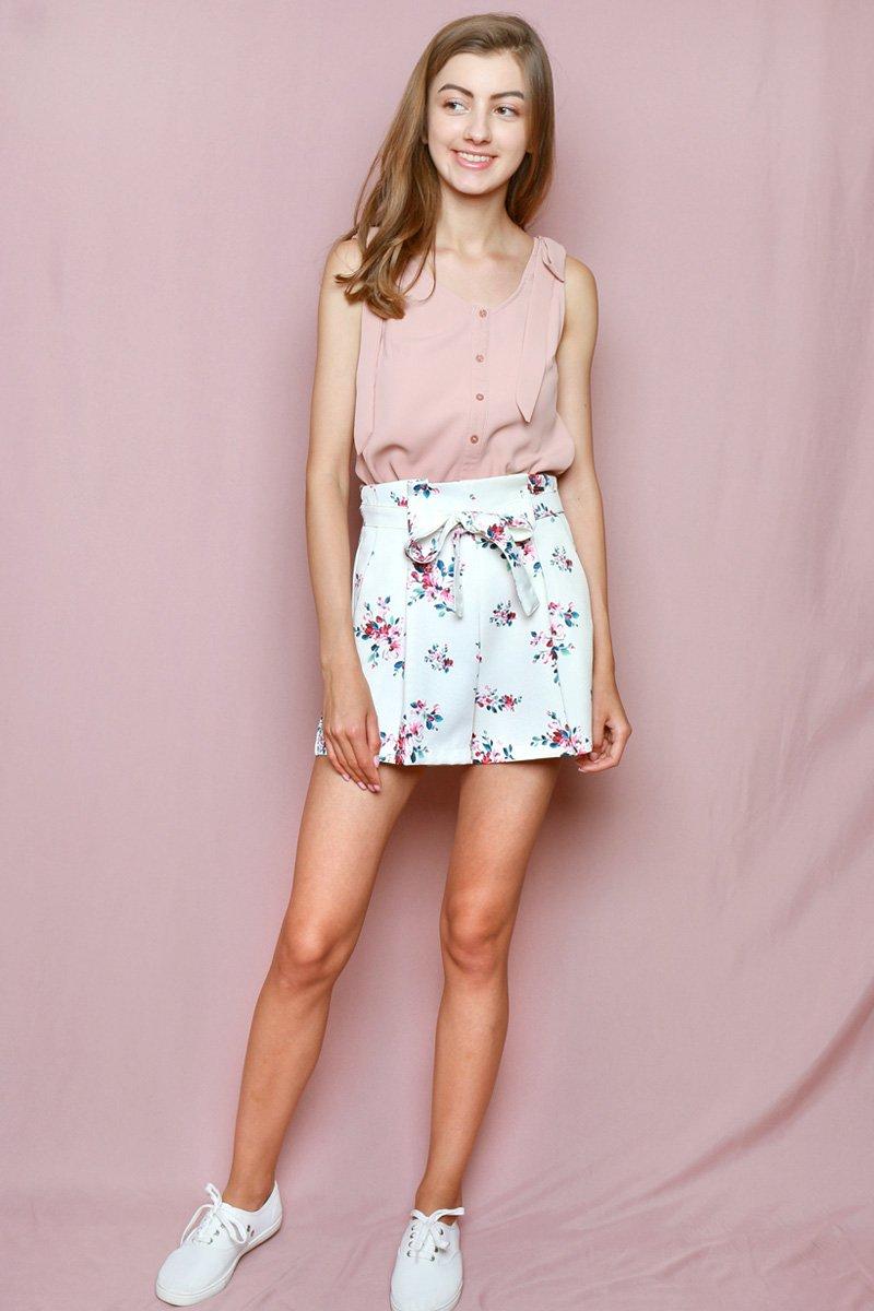 Hello Kitty Paperbag Shorts Ivory