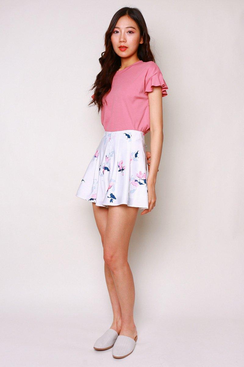 Palmer Floral Shorts Ivory