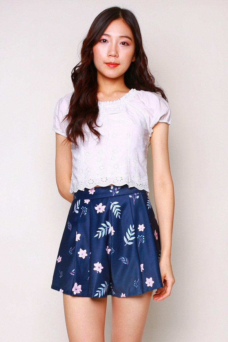 Carolinda Floral Shorts Midnight