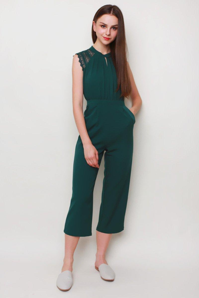 Octavia Keyhole Jumpsuit Emerald