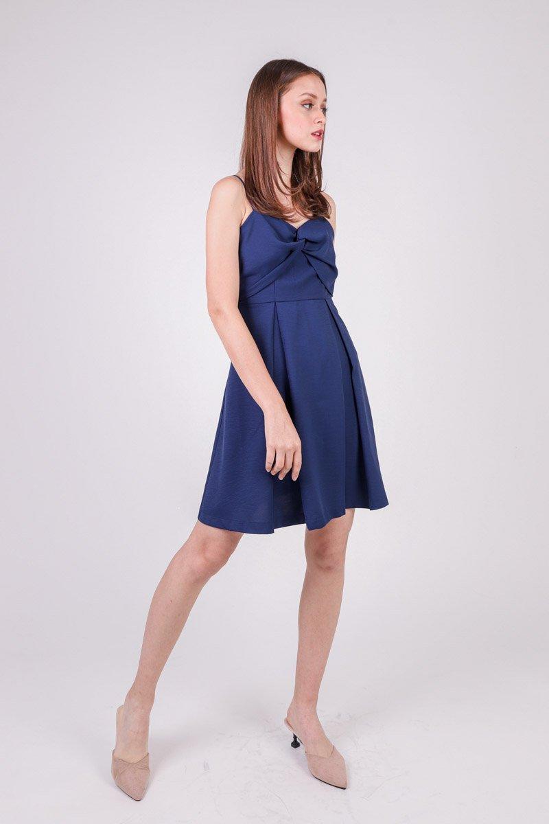 Avri Twist Front Dress Midnight