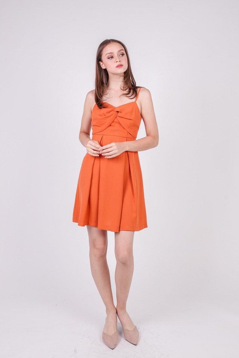 Avri Twist Front Dress Tangerine