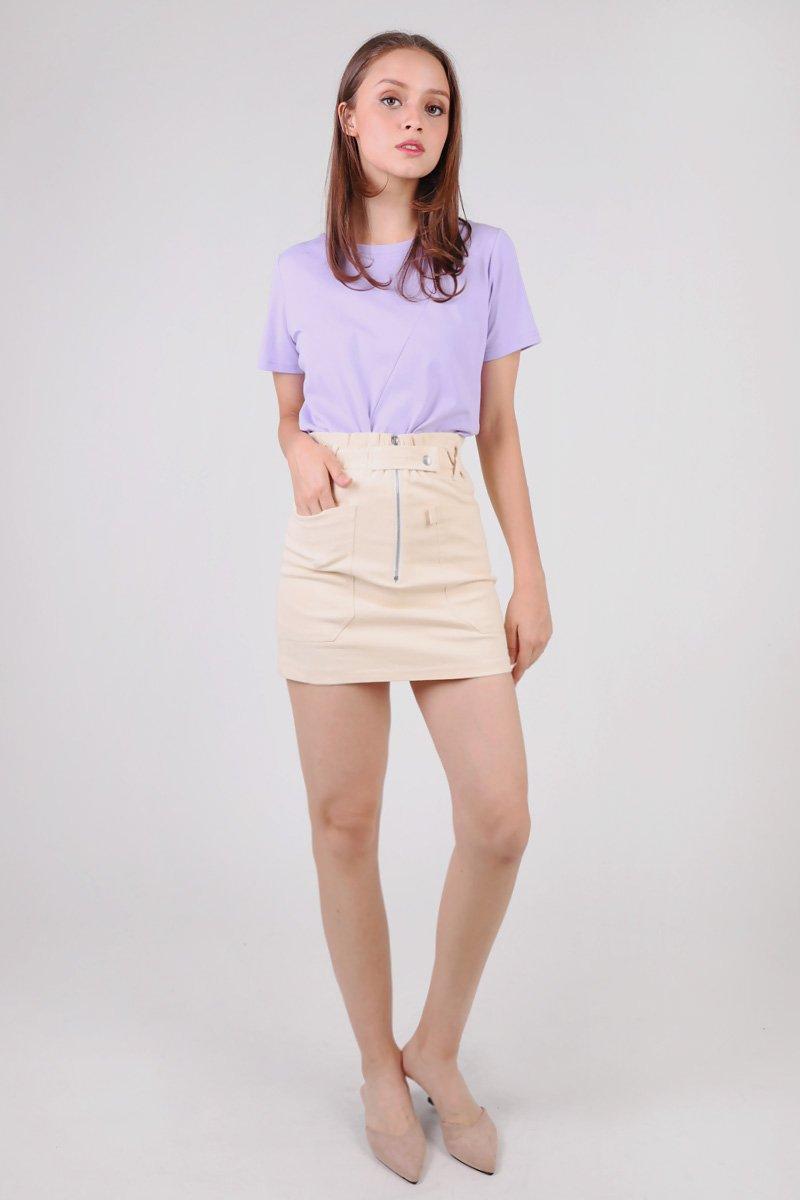 Edie Paperbag Skirt Cream