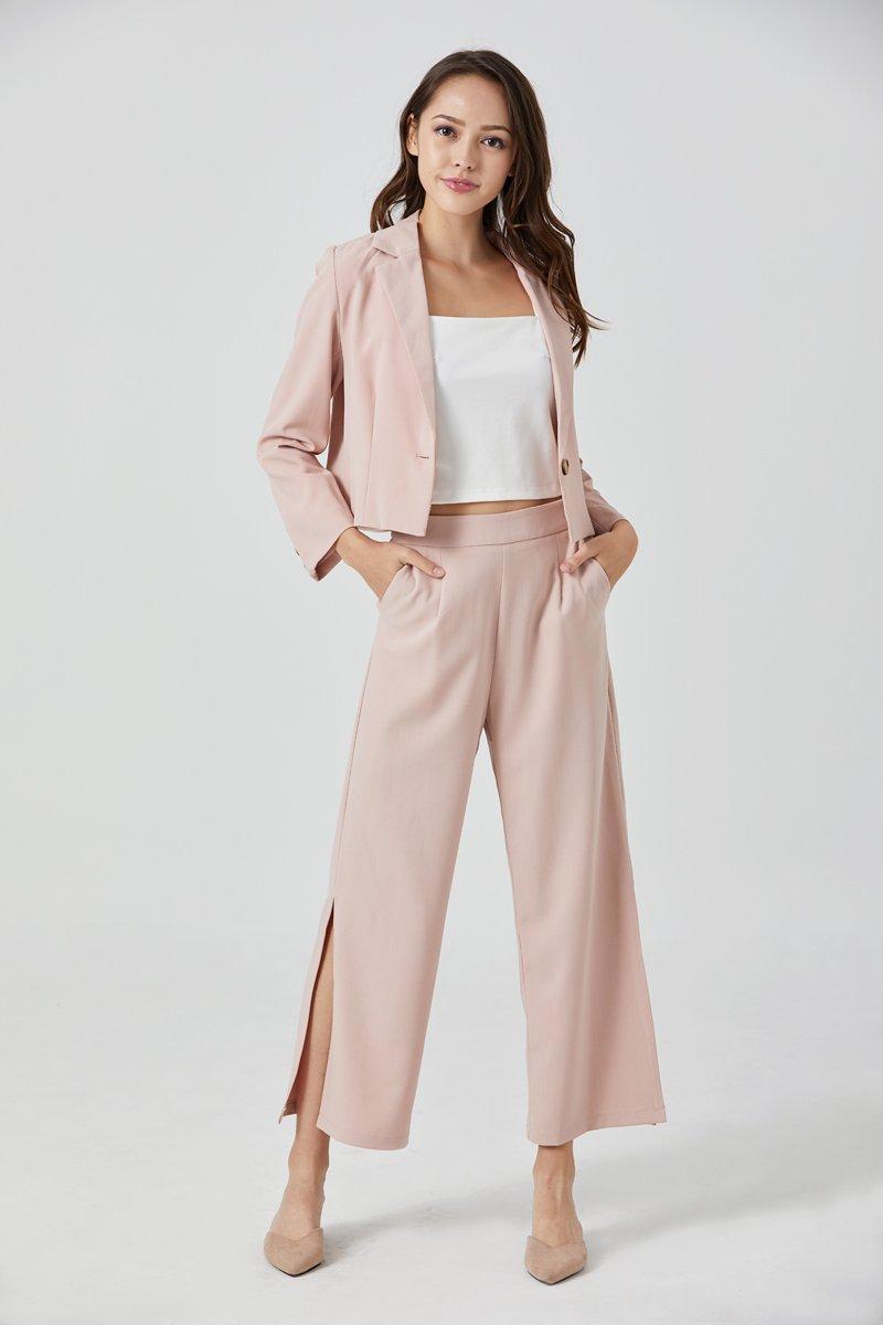 Zoe Slit Pants Blush