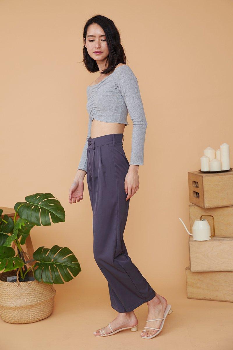 Trudy Straight Cut Pants Grey