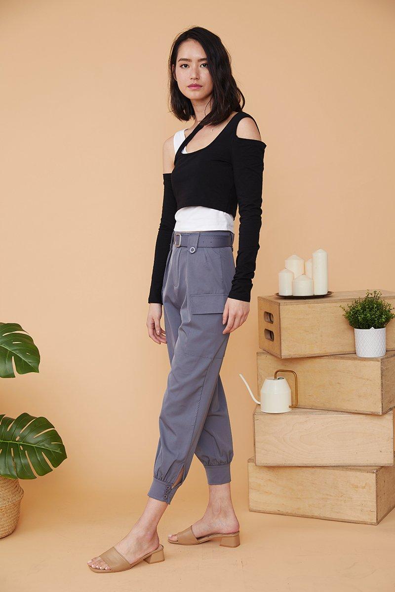Jessi Cuffed Pants Grey
