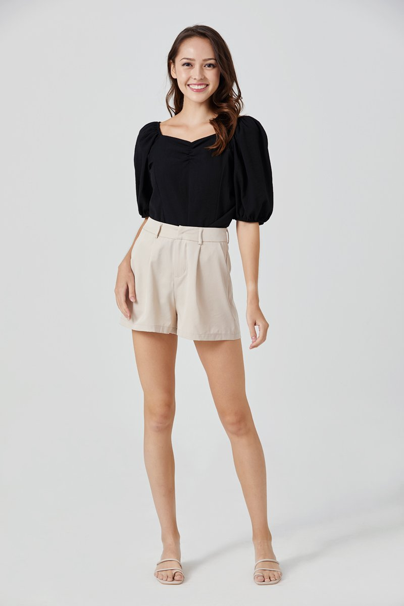 Delaney Tailored Shorts Nude