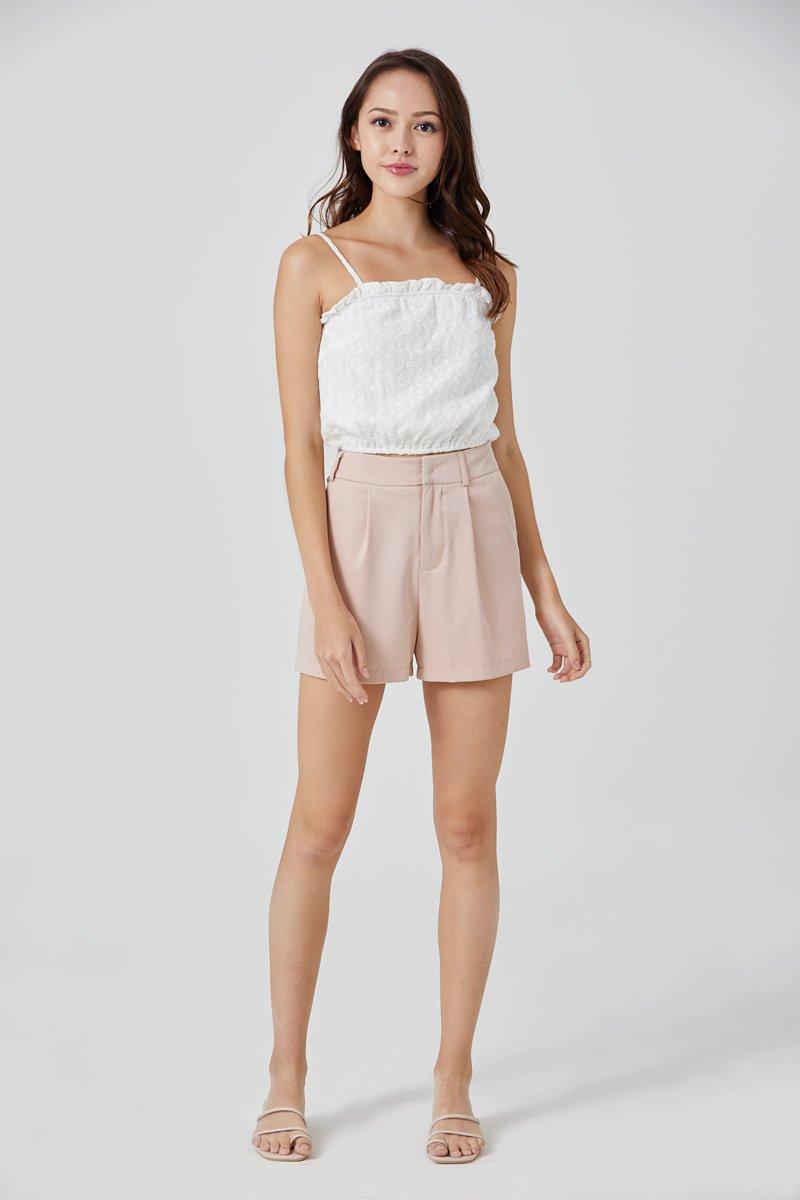 Delaney Tailored Shorts Blush