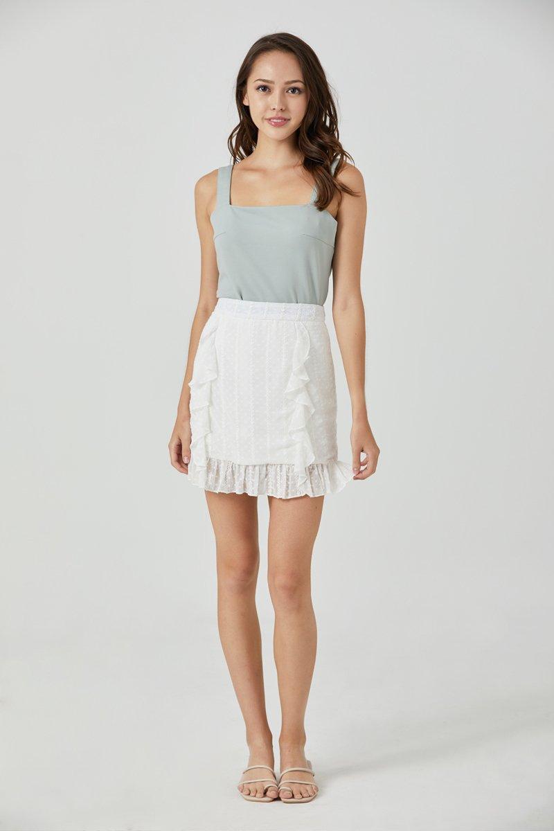 Camilya Swiss Dot Ruffle Skirt Ivory