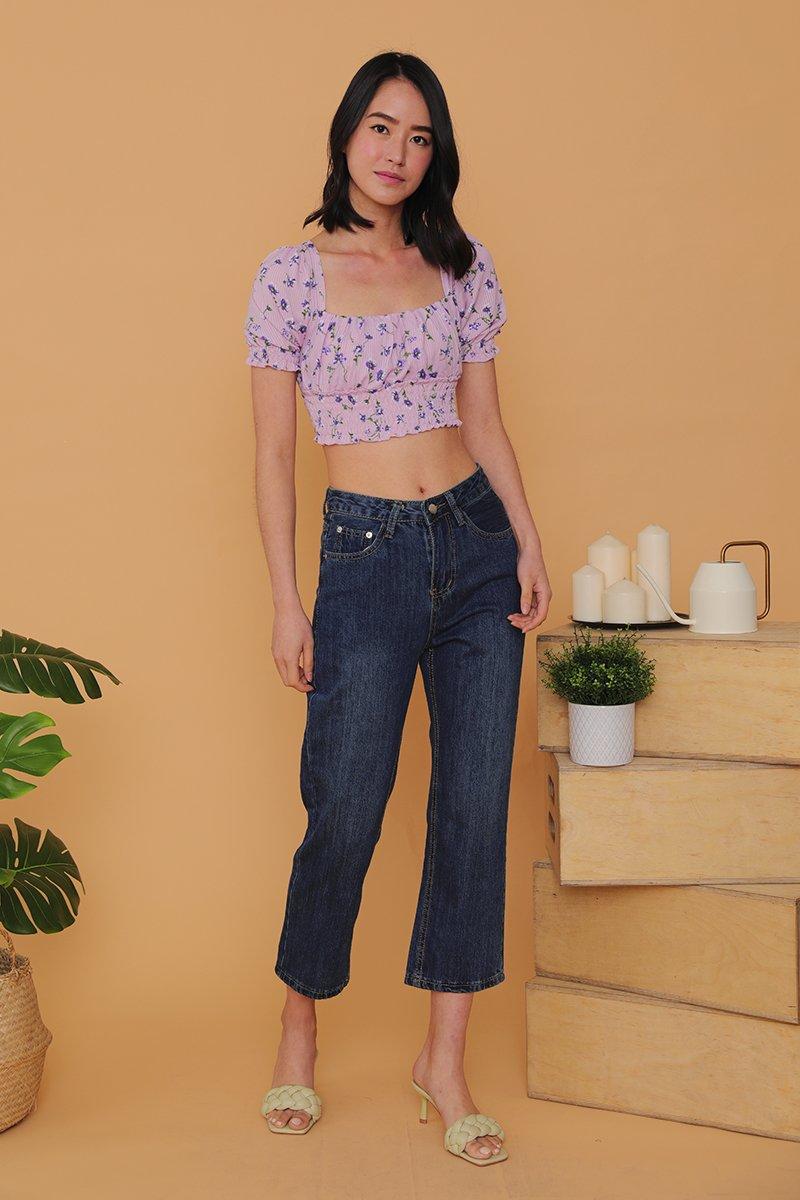 Keily Straight Leg Denim Jeans Darkwash