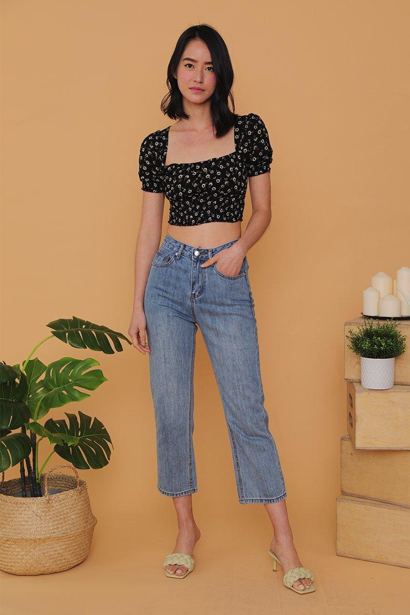 Keily Straight Leg Denim Jeans Lightwashed