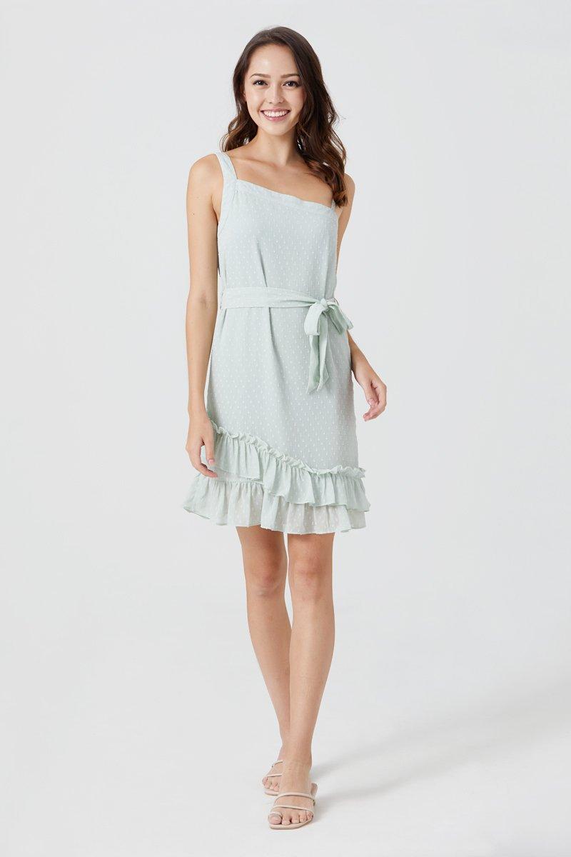 Felixa Toga Swiss Dot Dress Mint