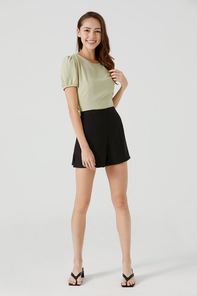 Sherly High Waist Shorts Black