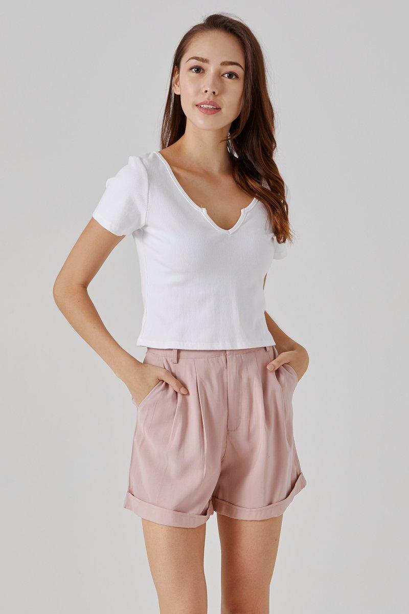 Kendice High Waist Shorts Blush