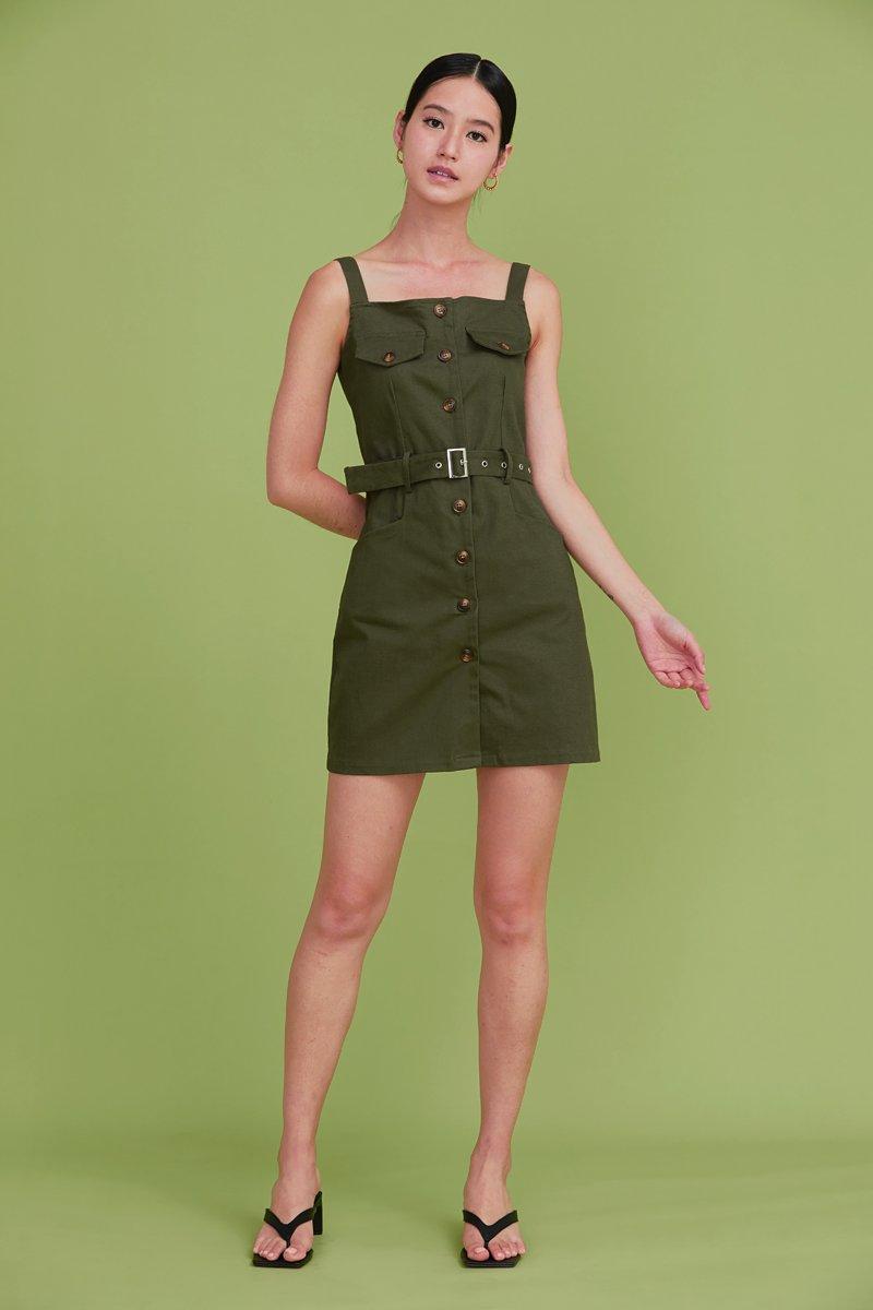Wandella Utility Buckled Dress Olive