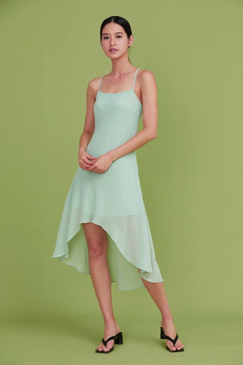 Lin Cross Back Slip Dress Mint