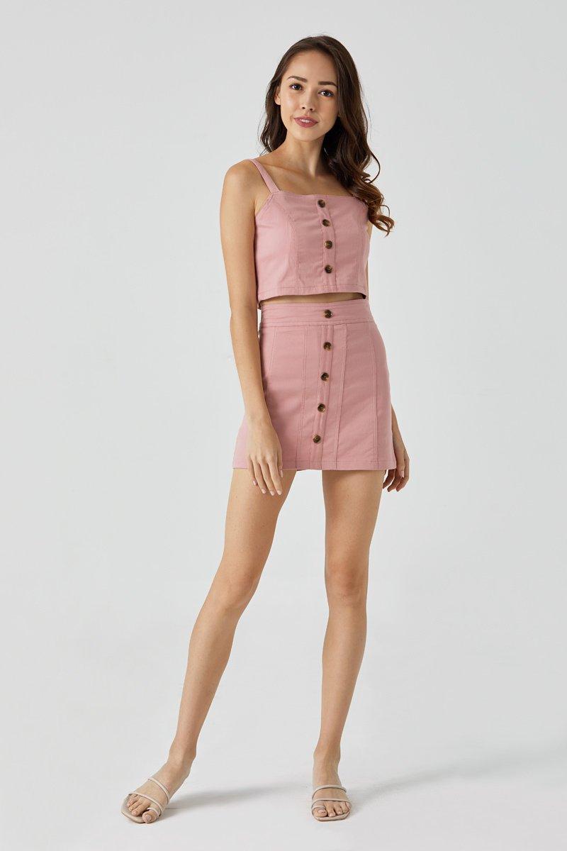 Andrey Turtle Shell Mini Skirt Blush