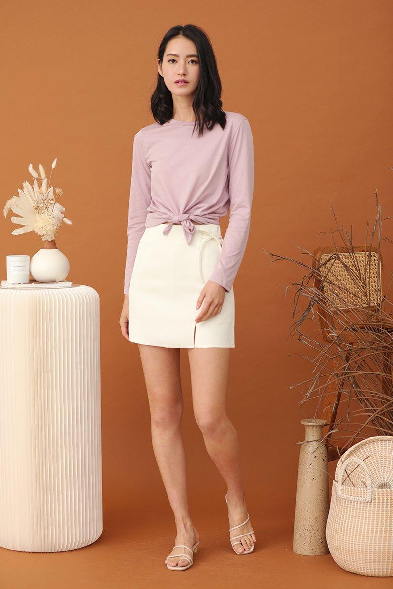 Dixie Ribbon Skirt Ivory