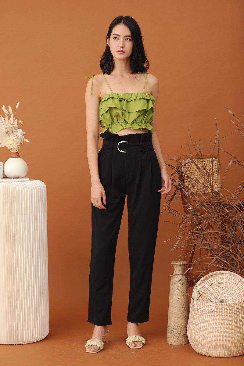 Casaria Paperbag Pants Black