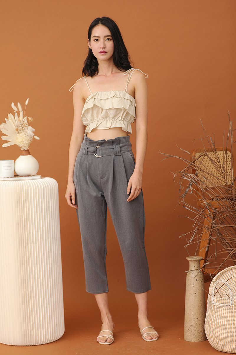 Casaria Paperbag Pants Grey