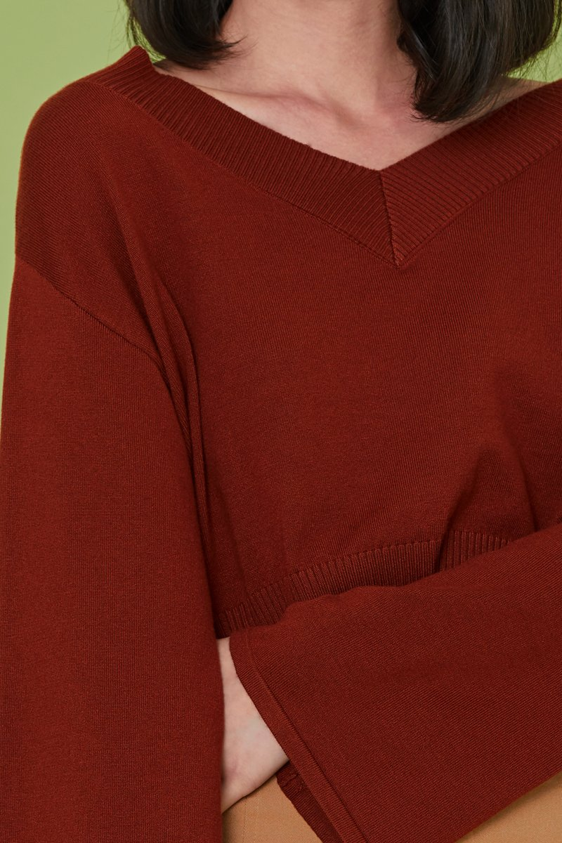 Reine Knit Sweater Rust