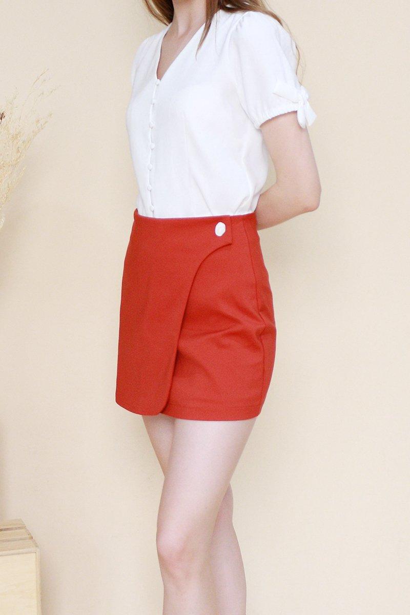 Makis Overlap Skirt Brick