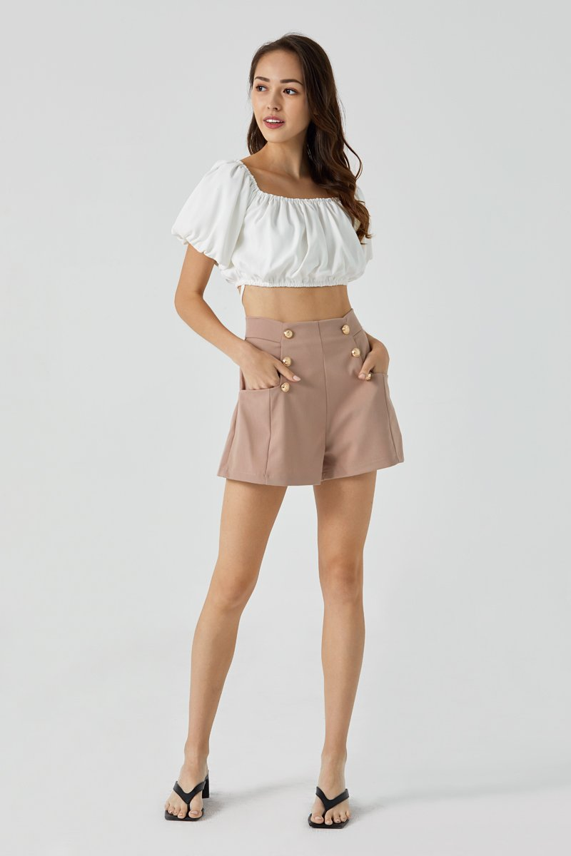 Amara High Waist Shorts Mauve