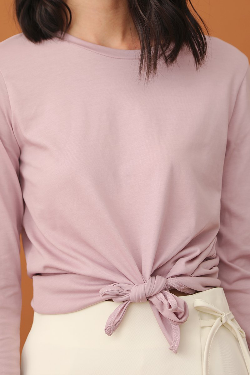 Gianna Tie Front Top Lavender