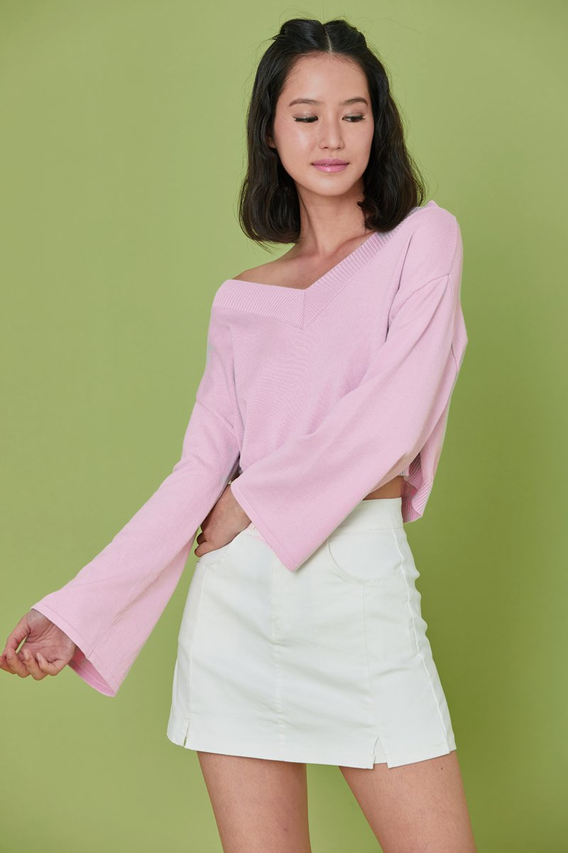 Reine Knit Sweater Blush