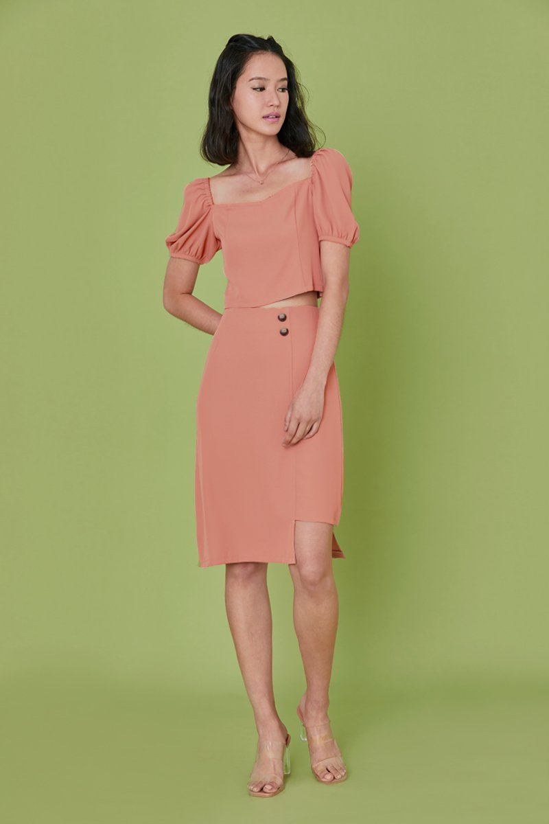 Hira Asymmetrical Skirt Mauve