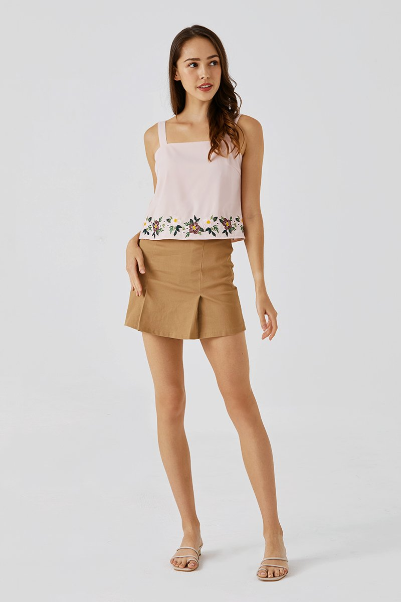 Vernice Embroidered Top Blush