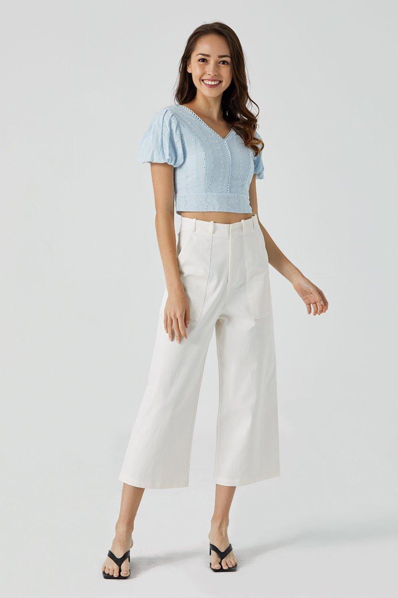 [BACKORDER] Lora Wide Leg Pants Ivory
