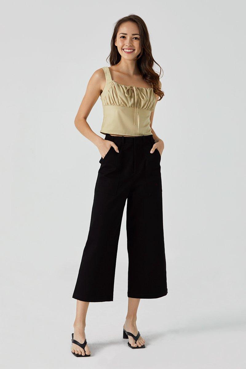 [BACKORDER] Lora Wide Leg Pants Black