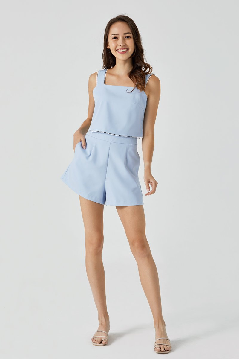 Sophie Scallop Shorts Sky