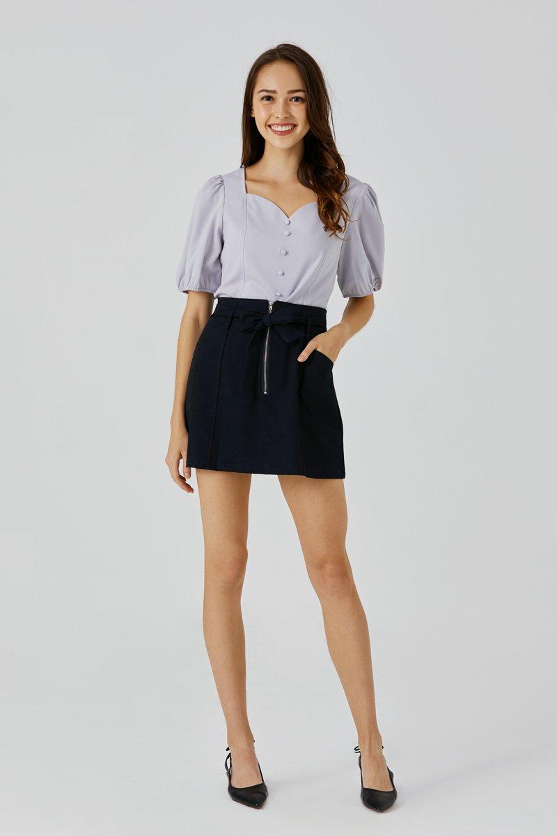 Alice Belted Skirt Midnight