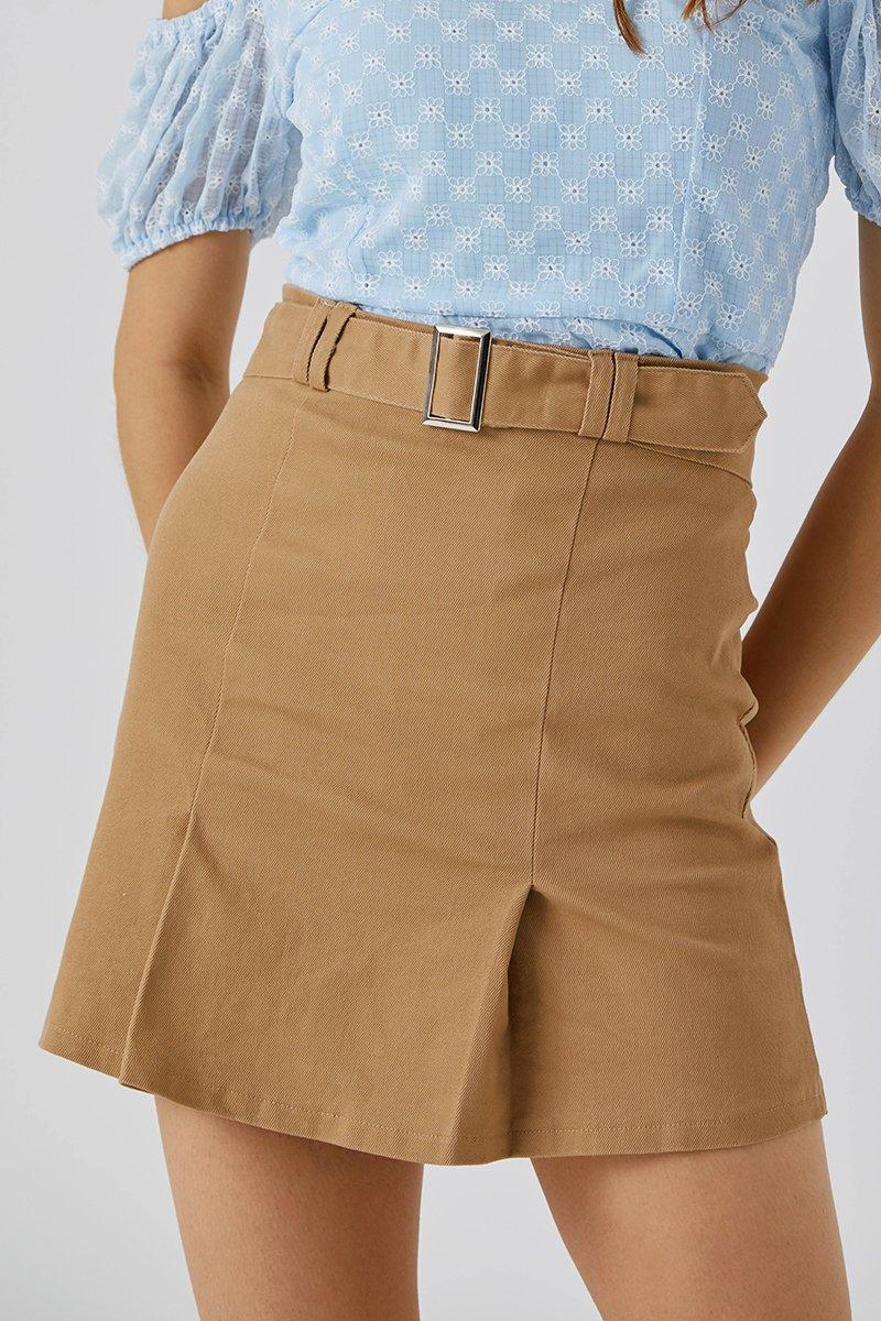 Zuri Belted Skirt Caramel