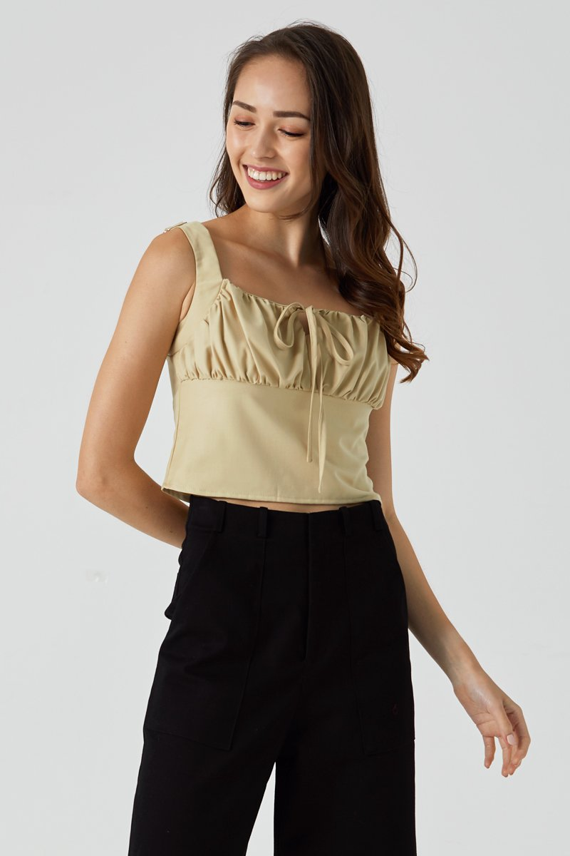 Raynie Ruched Cami Top Sand