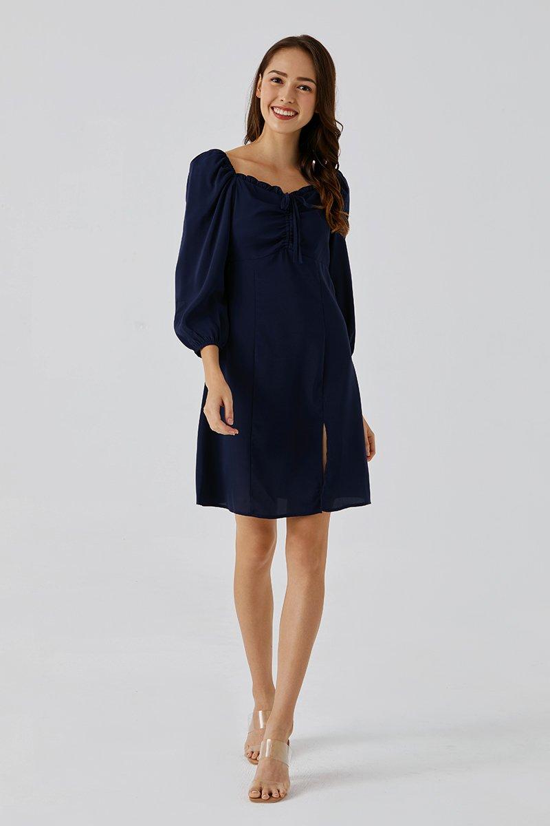 Laila Sweetheart Neck Dress Midnight