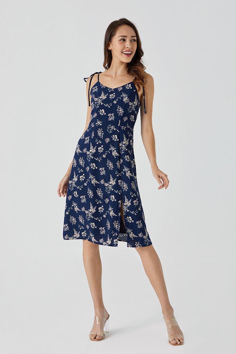 Britt Midi Floral Dress Midnight